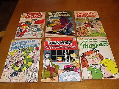 Dennis The Menace Silver and Bronze Age Comics Lot of 6