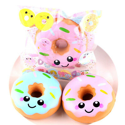 Cute Soft Squishy Doughnut Donuts Super Slow Rising Gift Stress Relief Kids Toy