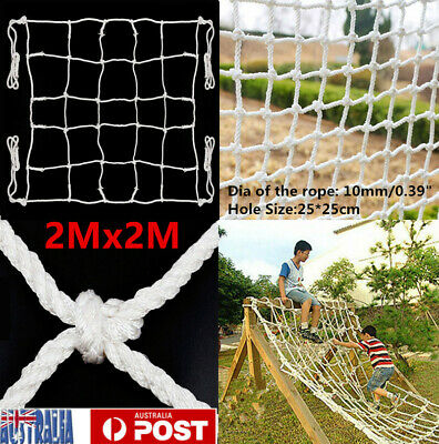 2m X 2m Climbing Net Cargo Rope Net Safety Mesh Heavy Duty White
