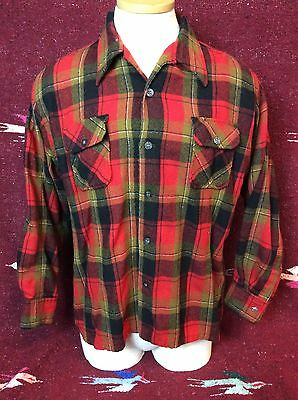 Vintage Kentfield Woodsman Wool Shirt Size Large