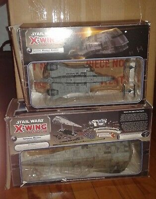 Fantasy Flight Games X-wing Miniature Game Huge Ship Lot incl. Imperial Raider