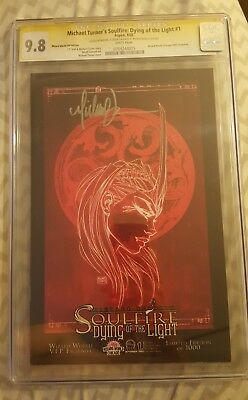 Soulfire Dying of the Light #1 CGC 9.8 SS Turner Variant Fathom Aspen Signature