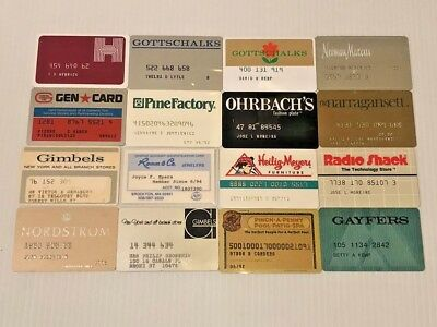 Lot of 16 Vintage Retail Store Cards Credit Charge Card Y55