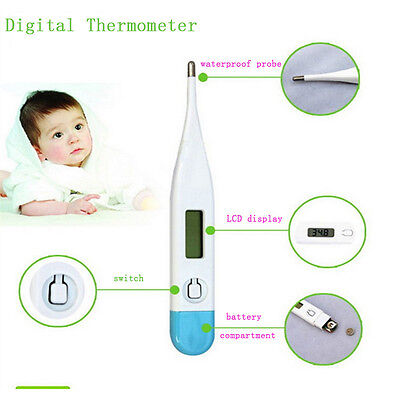 Good Digital LCD Medical Thermometer Mouth Baby Body Temperature Tester Beeper