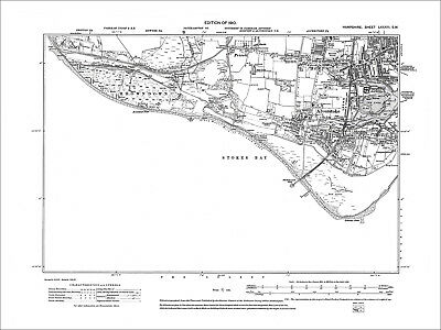 Alverstoke, Old Map Hampshire 1910: 83SW
