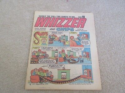 Whizzer And Chips Comic, Feb 12th 1972- Good Condition