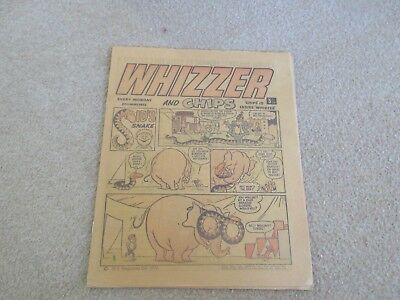 Whizzer And Chips Comic, May 20th 1972- Good Condition