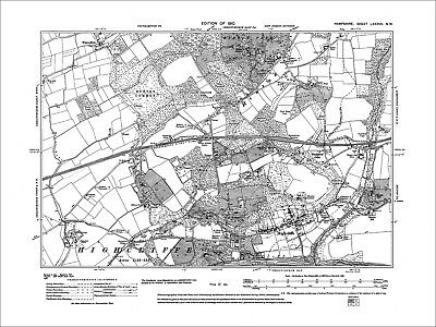 Hilton, Highcliffe, Old Map Hampshire 1910: 87NW