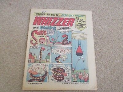 Whizzer And Chips Comic, February 21st 1970- Good Condition