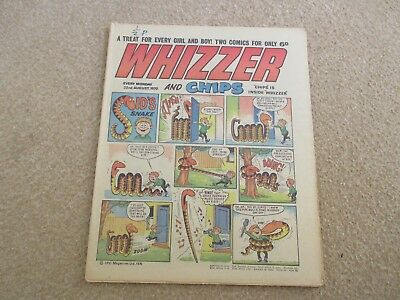 Whizzer And Chips Comic, August 22nd 1970- Good Condition