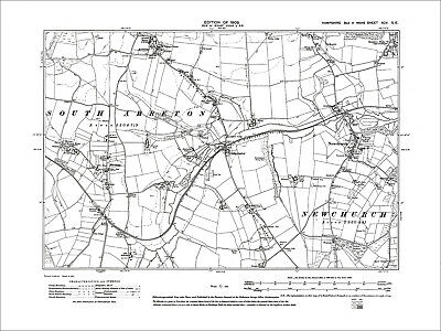 Arreton, Newchurch, Merstone, Old Map Hampshire Isle Of Wight 1909: 95SE