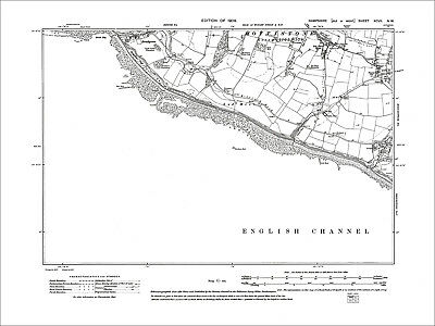 Old Map Hamp Niton Isle Of Wight 1909: 100NW St Catherine Point Blackgang