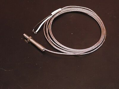 """RS Pro"" J Type Thermocouple Stainless Steel Probe M6 2m Length, 0.2mm diameter"