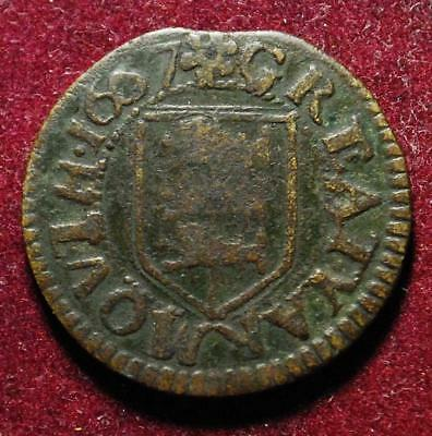 Norfolk Great Yarmouth town issue farthing token 1667 - W284