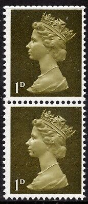 SG 724 1d Yellowish Olive Machin Definitive Spot Flaw Spec U2 Unmounted Mint