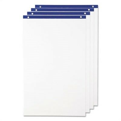 Conference Cabinet Flipchart Pad, 21 x 33 3/4, White, 50 Sheets/Pad, 4 Pads/CT
