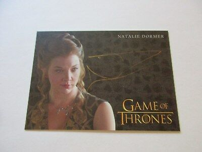 Game of Thrones Valyrian Steel Natalie Dormer as Margaery Tyrell GOLD Autograph