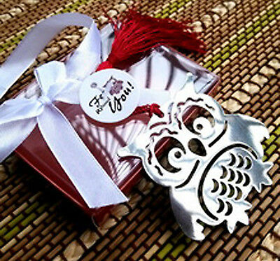 OWL BOOKMARK Silver Metal Book Page Mark Reader Read Birthday Bird Gift Library