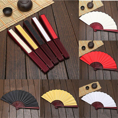 1pc Blank Spun Silk Calligraphy Painting Writing Dancing Folding Hand Fan Decor
