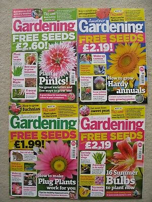6 x Amateur Gardening Magazines From 2017.