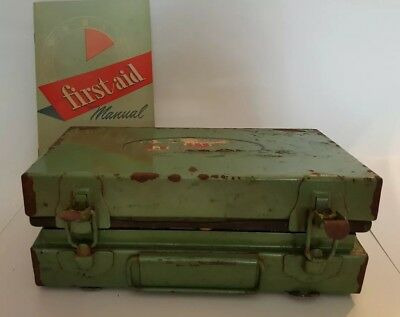 Vintage Humble Oil Metal First Aid Kit and Manual