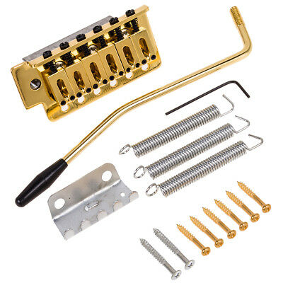 Electric Guitar Tremolo Bridge Single Locking System Gold for ST Guitar