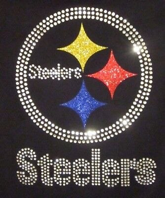 d3b2d981346 PITTSBURGH STEELERS RHINESTONE Bling v-neck ladies T-shirt -  24.99 ...