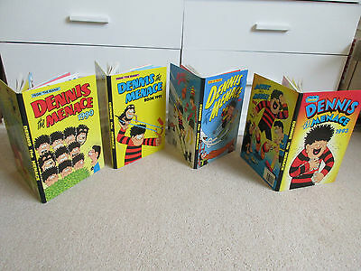 THE BEANO'S DENNIS THE MENACE BOOKS X 4, 1990/91/92/93-All unclipped, VGC