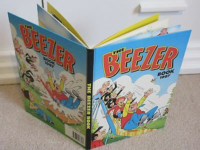 THE BEEZER BOOK/ANNUAL 1987-D.C THOMPSON-BEANO/DANDY--vgc