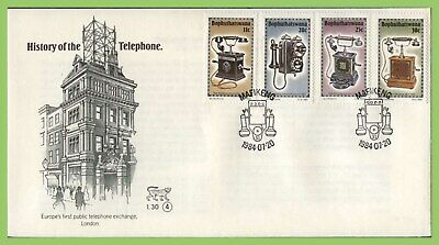 Bophuthatswana (S.A.) 1984 History of the Telephone (4th) set on First Day Cover