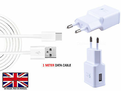 ZTE BLADE X - Fast EU Wall Charger / USB Type C 3.1 Data Transfer Cable