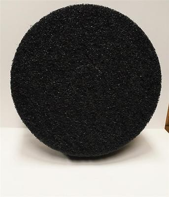 "5 ETC Select Black Stripping 17"" Floor Buffer Pads 1"" Thick New High Quality"