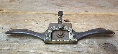 Antique Spoke Shave Wood Plane Tool ~ E.C.Stearns & Co Syracuse NY patent 1900