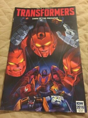 Botcon 2016 Exclusive Transformers Dawn Of Predacus Comic/program