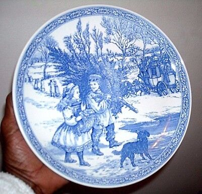 Spode Blue Room Collection Christmas Plate Number