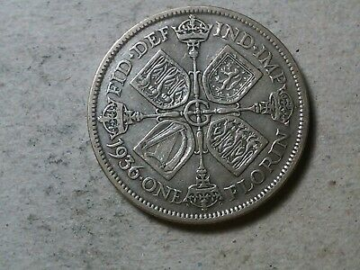 Great Britain florin two shillings 1936 George V silver