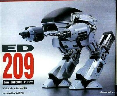 "8""ED209 Small Version DETROIT POLICE ROBOCOP Action Movies Vinyl Model Kit 1/12"