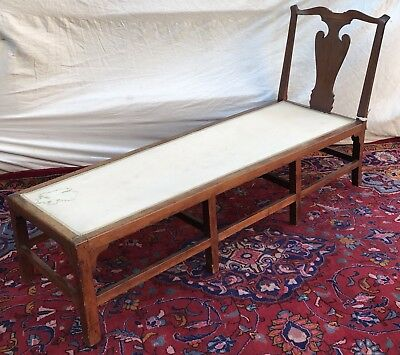 Ultra Rare & Important Queen Anne Connecticut Cherry Day Bed