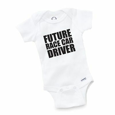 Future Race Car Driver Onesie Baby Clothing Shower Gift Geek Funny Cute Gift