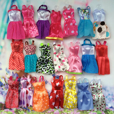 20pcs Lot Barbie Doll Fashion Princess Dress Outfits Party Wedding Clothes Gown