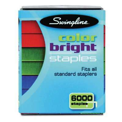 Swingline® Color Bright Staples, Assorted Colors, Blue, Red, Gree 074711351232