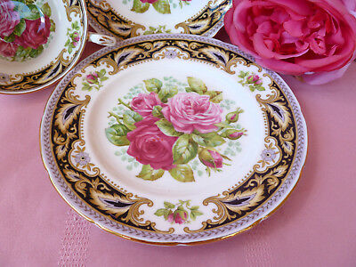 Vintage~c1950~EB~FOLEY~FLORENCE~Shabby~Pink~Rose~High~Tea~Trio~Cup~Saucer~2