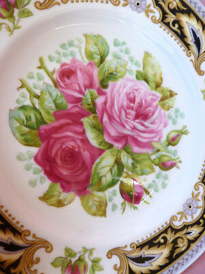 Vintage~c1950~EB~FOLEY~FLORENCE~Shabby~Pink~Rose~High~Tea~Trio~Cup~Saucer~4