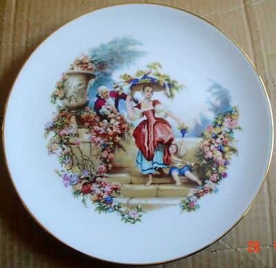 Royal Worcester Oven To Tableware Plate 1963 Old Fashioned Scene