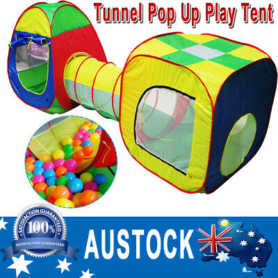 Portable Kids Pop Up Play Tent Tunnels bady Toddler Cubby House Ball Pit Indoor