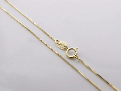 Genuine brand new Italian 9K Solid Yellow Gold Chain Necklace 45,50,55 and 60 cm