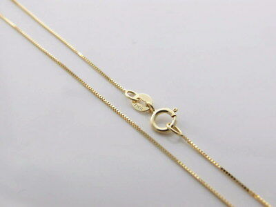 Genuine brand new Italian made 9K Solid Yellow Gold Chain Necklace 45 - 80 cm