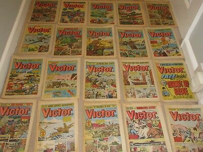 VICTOR COMICS X 29  FROM 1980,  Good condition/ WARLORD- with key issue No 1000