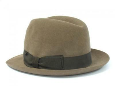 406f1c3a853 VTG CHRISTY S LONDON Harrods MENS Fedora FELT HAT Brown 7 57cm M ...