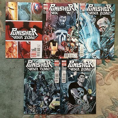 PUNISHER WAR ZONE (2012) # 1, 2, 3, 4, & 5, COMPLETE SERIES , Greg Rucka